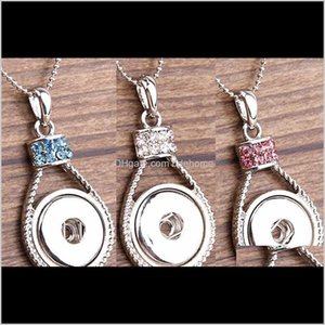 Snap Necklace Noosa Ginger Snap Charms Jewelry Exquisite Interchangeable Jewerly Crystals Pendants Neckl qylsyu luckyhat