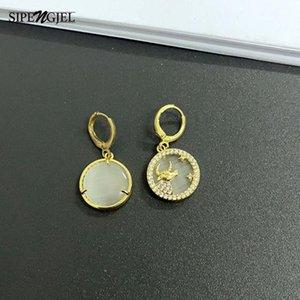 Sipengjeltrendy cubic zircone zircono orecchini a goccia di buona qualità in pietra piccoli orecchini a hoop per le donne gioielli 2021 huggie