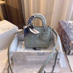 3A Designer Luxury Handbag Wallet Shoulder Bag Leather Crossbody Saddle Handbags Wearing Silk Scarf High Quality Shopping Bags