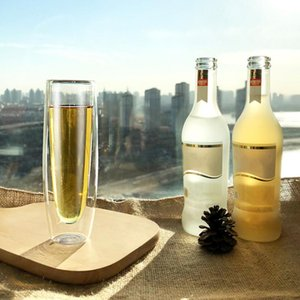 Mugs Heat-Resistant Double-Layer Glass Creative Champagne High-End Red Wine Transparent Water Cup