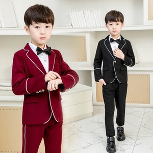 Formal Boys Suits for Weddings Dress Elegant Kids Festive Costume Tuxedo Children School Uniform Classic Baby Carnival Clothes