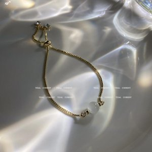 Link, Chain 2021 Korean Fashion Temperament Female Opal Bead Bracelet For Women Girl High Quality Gold Plated Hand Jewelry