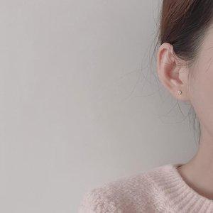 Nuova moda mini orecchini invisibili cuore cuore cuore orecchino per le donne intarsiato gioielli zirconi semplice e carino Namour regalo di fascino