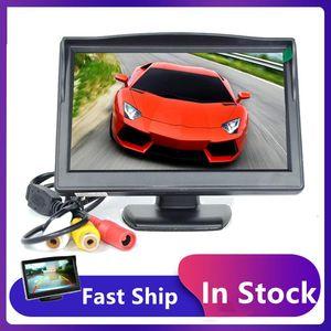 Video de automóviles 5 pulgadas Monitor LCD HD 16: 9 Pantalla de pantalla AUTO Vista posterior Estacionamiento de 2 vías Entrada electrónica