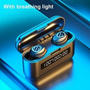 TWS Bluetooth 5.1 Wireless Headset Earphones Waterproof Stereo In-Ear Earbuds Headphone Gaming Earphone Headphones &