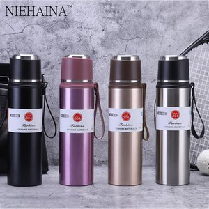 Water Bottles 800 1000Ml Large-Capacity Insulation Cup 304 Stainless Steel Pot Mountaineering Riding