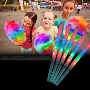LED Cotton Candy Glo Cones Colorful Light Stick Flash Glow For Vocal Concerts Night Party
