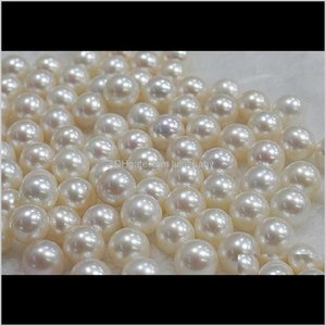 Wholesale 78Mm White Natural Perfect Circle Half Hole Loose Beads 0296 Bgdtv 9K8Up