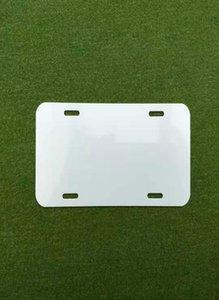 Placa de aluminio de sublimación Láminas en blanco Hoja de aluminio blanco DIY Transferencia térmica Placas de publicidad Logotipo personalizado 15 * 30 cm Sea HHC6062
