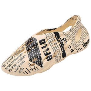 Men's brand sandals Kan Yetong's Coconut print newspaper style Dongdong shoes and men's sandals