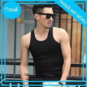 Cotton Mens Underwear Sleeveless Tank Top Solid Muscle Undershirts O-neck Gymclothing T-shirt men's Vest