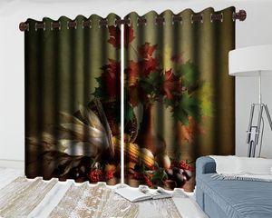 Красивый кленовый лист 3d Blackout занавес для гостиной спальня кухня живопись росписью современный домашний декор оконные занавески