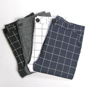 Plaid Pants Men Joggers Slim Fit Streetwear Sweatpants Hip Hop Polyester Mid Waist Trousers Striped Straight Harem Pants1