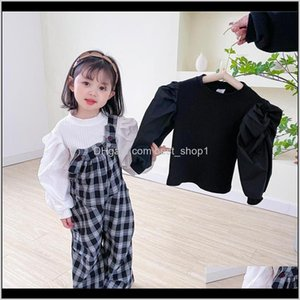 Korean Quality Style Ins Little Girls Tshirt Autumn Puff Long Sleeve Tshirts Cotton Bountique Clothes Winter Boys Top Y9Udb T3Qmw
