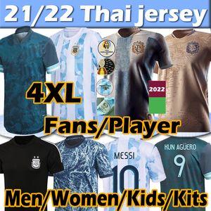 21/22 Argentine Soccer Jerseys Concept Fans Player Version 2021 Copa America Messi Dybala Aguero Lo Celso Martinez Jersey Hommes Femmes Kids Kits Football Shirt