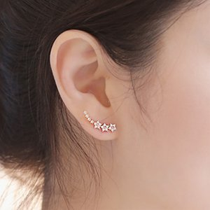 Bling Aaa Zirconia Factory Promotion Climb 925 Sterling Sier Long Ear Manchet Study Earrings for Women Women's Jewelry Poison
