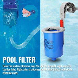 Swimming Pool Surface Cleaner wall mount filter adjustable mounting bracket Float Absorber Skimmer Debris Collection Machine