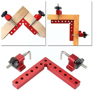 Professional Hand Tool Sets 90 Degree Positioning Squares L-Type Corner Clamp Right Fixing Angle Aluminum Woodworking Alloy Clamps Carpenter