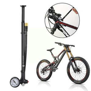Bike Pumps Bicycle Pump Mtb Road Absorber Front Fork Pressure Tool Cycling Tire With Gauge Hose Air Infla T3a1