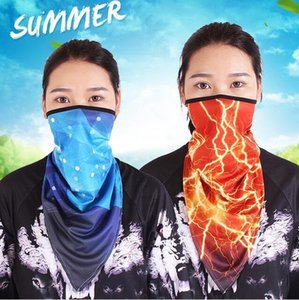 Silk Face Mask Hip Ice Hop Bandanas Paisley Quick-dry Triangle Scarf Breathable Riding Fishing Windproof Masks Sunscreen Cycling Mask LSK265