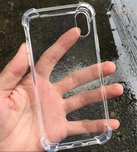 شفاف صدمات الاكريليك الهجين درع الحالات الصعبة آيفون 12 11 برو XS ماكس XR 8 7 6 زائد Samsung S20 Note20 Ultra