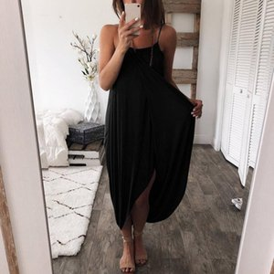 Irregular dress solid knitted loose