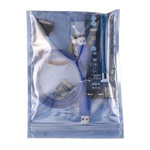 Top Quality 30CM 60CM PCI-E PCI Express Riser Card 1x to 16x USB 3.0 Data Cable SATA to 4Pin IDE Molex Power Supply
