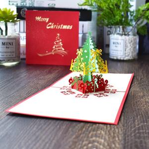 Christmas Greeting Cards 3d handmade pop up greeting cards 3D Handmade Xmas Gift Stationery Card Vintage Retro Pierced Post OWD10283