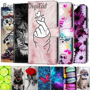Fashion For POCO X3 NFC M3 Painted Leather Flip Phone Case For Xiaomi Redmi Note 9T Mi 10T Pro Lite Wallet Card Holder Stand Book Cover