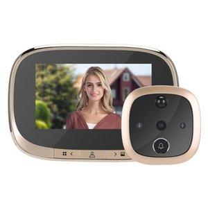 Doorbells 4.3 Inch LCD Color Screen Digital Doorbell Smart Electronic Peephole Night Vision Door Video Camera Viewer Outdoor Bell