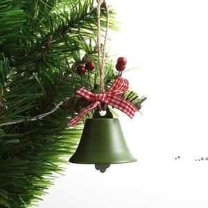 Christmas Jingle Wrought Iron Big Bell Decoration Pendant Christmas Bell Pendant Christmas Ornaments New Year Party Kids Toys FWD11076