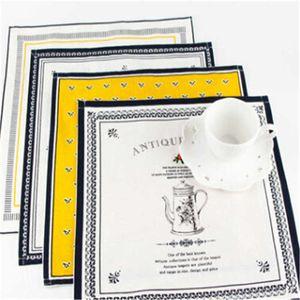 Classical Europe Fabric Art Napkin Cotton Linen Cloth 4 Patterns Home Hotel Table Decoration 1 pcs