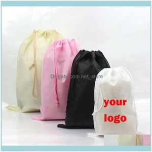 Shopping Bags, Lage & Aessories6 Sizes Non-Woven Dstring Tote D String Recycle Storage Bags Gift Bag Aept Customized Logo Drop Delivery 2021