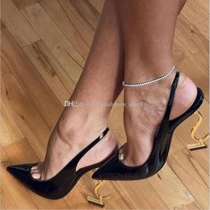 With Box 2021 Brand Designer Ladies High Heels Shoe Sexy Letters Real Leather Suede Fashion Pumps Spring Footwear Wedding Dress
