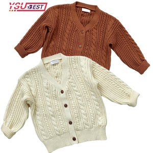 Pullover Autumn Baby Boys Girls Coat Sweater Thicken Toddler Knit Cardigans 1-7Yrs Knitwear Long-sleeve Cotton Jacket Tops