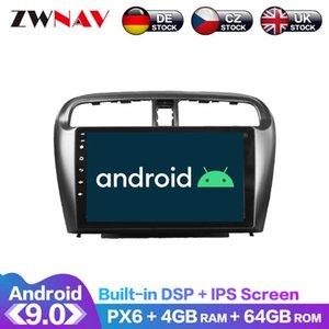 Игрок Android 9 4 + 64G PX6 DSP Carplay Radio Car DVD GPS навигация для Mitsubishi Mirage Attage 2012-2021 головной блок мультимедиа