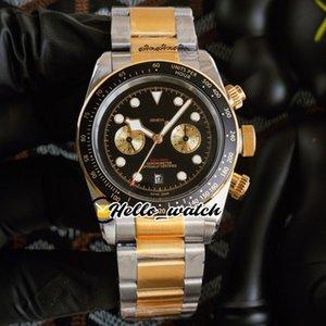 41mm Patrimoine M79363N-0001 79363 Montres Miyota Quartz Chronographe Montre Montre Noir Cadran Black Cadran de chronométrage Deux ton en acier d'or Sport Hello_Watch HWTD