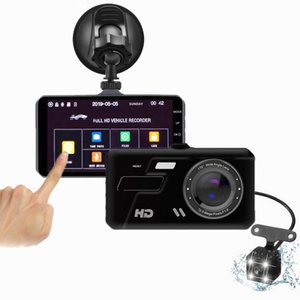 4-inch Touch Screen Dash Cam HD Night Vision 1080p DUAL MIRROR Vehicle Driving DVR Parking Monitoring Digital Cameras