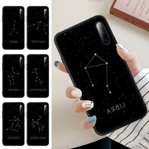 12 Constellations Zodiac Signs Black Silicone Mobile Phone Case For J7 J6 K5 J4 Note 5 8 9 10 Lite Plus 20 Ultra Cover