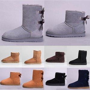 Classic mini short shoes bailey bow tall button boot wgg triplet Australia womens women winter snow boots fur Australian furry booties warm