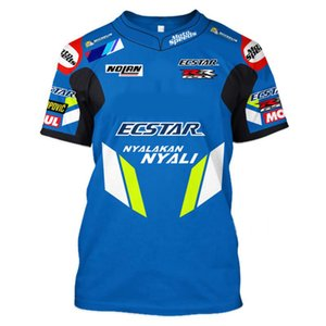 2021 Sommer Neues Outdoor T-Shirt 3D Druck SUZUKI Motorrad Reiten kurzärmliges Rennsport-Shirt Herren Off-Road T-Shirtsoccer Jersey
