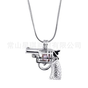Hot Selling Hip Hop Electroplated Hollow Necklace with Detachable Pearl Cage and Revoer Pendant