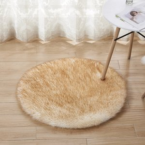 Plush Sheepskin Throw Rug Faux Fur Elegant Chic Style Cozy Shaggy Floor Mat Area Rugs Home Decorator Dropshipping 318 R2