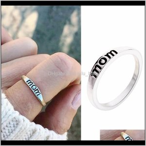 S1021 Fashion Jewelry Letters Ring Mom Dad Hu1To Band U0K5F