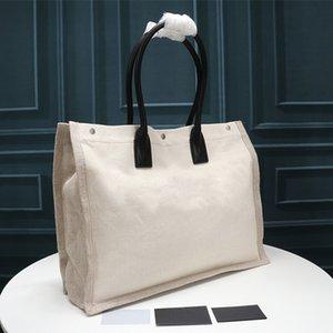 Mulheres Bolsas Rive Gauche sacola Sacola Bolsa All Black Shopping Tote Moda Linho Grande Beach Bags Saco de Viagem de Designer de Luxo