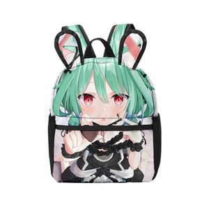 Backpack Hololive Uruha RushiaFashion Girl Oxford Ears Zipper Children Girls School Bag Kids Backpacks