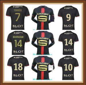 Rennes 2021 2022 player version Stade Rennais fc soccer Jerseys 120th Anniversary Doku BOURIGEAUD Guirassy special maillots de foot shirts23