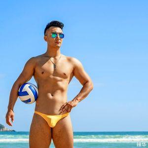 Sexy enge schmale taille half-pack hip badebekleidung 2021 strand shorts board bikinis schwimmen koffer männer schwimmbad slics shimsuits männer