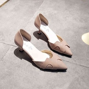 Pointed Patent Leather Toe Women Stilettos Side Cutout Slip on Thin High Heel Shoes Brand Ladies Sexy Pumps Sandals 2020 Spring