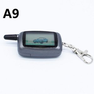 Alarm & Security A9 2-way LCD Remote Control KeyChain + Silicone Case For Two Way Car System Twage Starline Key Chain Fob